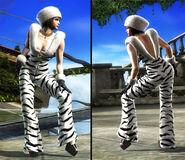 Anna T6 Zebra outfit
