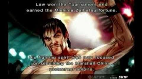 Tekken 4 Law Prologue and Epilogue