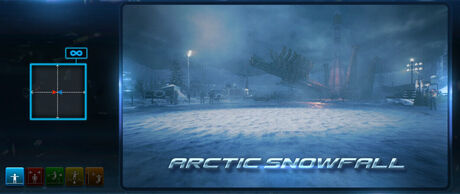 05 Arctic Snowfall menu screen