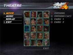 Tekken 4 Theatre Mode