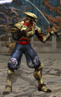 Yoshimitsu Tekken Tag 1 stance