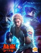Tekken6 poster Steve Heihachi Jin