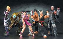 Game characters collection tekken 5 round 1