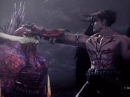 Devil jin absorbe jinpachi mishima tekken 5