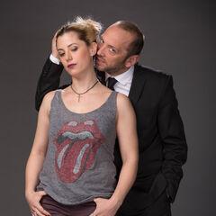 Camila (Emilia Noguera) y Julián (Sebastián Layseca)