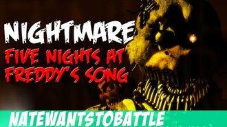 NateWantsToBattle Nightmare FNaF LYRIC VIDEO FNaF Song