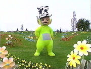 Dipsy wearing his silly hat