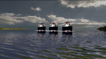 Three Ships arrive