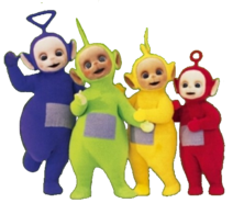 Teletubbies Christmas In The Snow Clipart