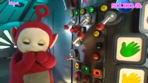 Teletubbies Po plays with the Controls