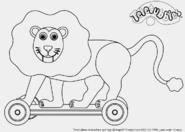 Lion Colouring Page