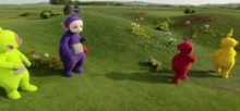 Teletubbies walking dance