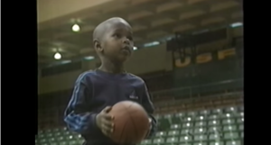 Jordan playing basketball