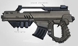 Asynchronous linear-induction rifle