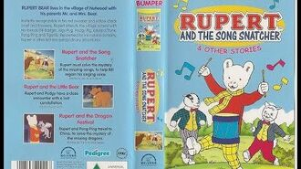 Original VHS Opening Rupert and the Song Snatcher and Other Stories (UK Retail Tape)