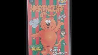 Original VHS Closing Heathcliff And Cats And Company Xmas Memories (UK Retail Tape)