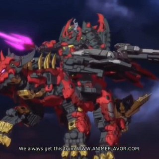 Vilius riding the Dark Tenkai Dragon