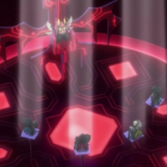Zephyrus alongside the other Guardians in Vilius' throne room