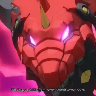 Dark Tenkai Dragon's face