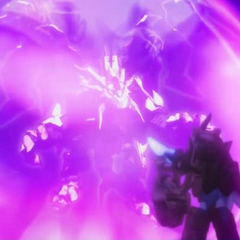 Dromus stealing the power from the Light Tenkai Dragon