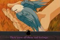 Tsubasa as a parakeet