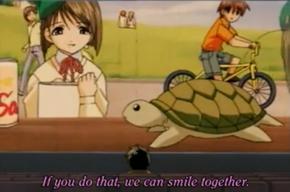 Ayumi as a turtle