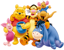 Transparent Winnie the Pooh and Friends