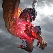 Rathalos - Azure Rathalos skin (Dive Attack)