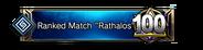 "Ranked Match ""Rathalos"" 100th Place Emblem"