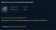 Beschwörung Farmerfestivalteppich