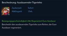 Beschwörung Ausdauernder Tigerinho