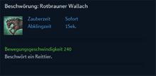 Beschwörung Rotbrauner Wallach