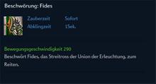 Beschwörung Fides
