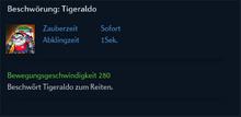 Beschwörung Tigeraldo