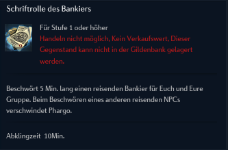 Schriftrolle des Bankiers