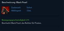 Beschwörung Black Pearl