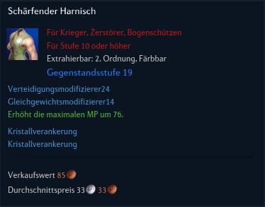 Schärfender Harnisch