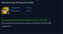 Beschwörung Energischer Saolo