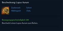Beschwörung Lupus Aurum