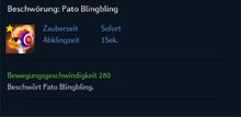 Beschwörung Pato Blingbling