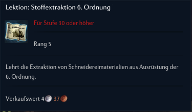 Lektion Stoffextraktion 6 Ordnung