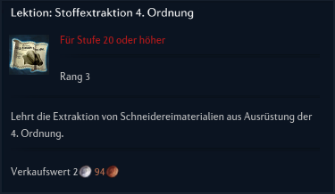 Lektion Stoffextraktion 4 Ordnung
