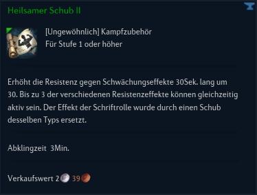 Heilsamer Schub II