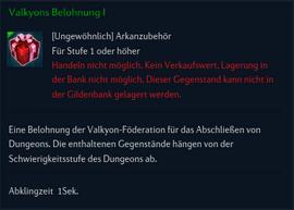 Valkyons Belohnung I