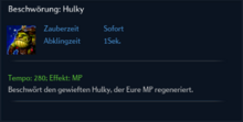 Beschwörung Hulky