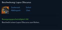 Beschwörung Lupus Obscurus