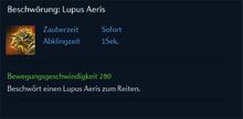 Beschwörung Lupus Aeris