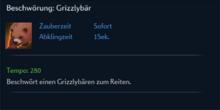 Beschwörung Grizzlybär