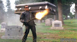 Alternate take of T-850 shooting at the cemetery