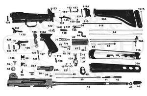 AR-18 disassembled